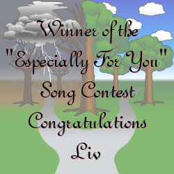 "Winner of the ""Especially For You"" Song Contest - Congratulations Liv"